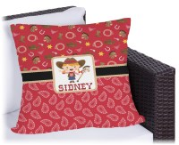 Red Western Outdoor Pillow (Personalized) - YouCustomizeIt