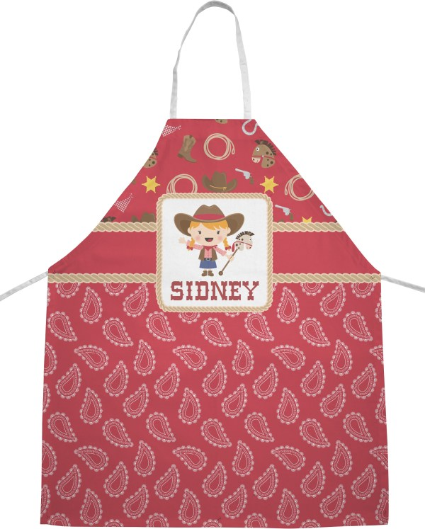 Red Western Apron Personalized - Youcustomizeit