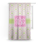 Pink Green Suzani Sheer Curtains Personalized Youcustomizeit