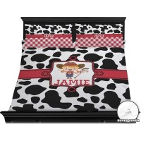 Cowprint Cowgirl Duvet Cover Set - King (Personalized ...