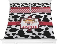 Cowprint Cowgirl Comforter Set - King (Personalized ...