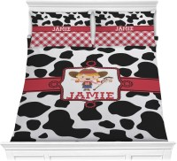 Cowprint Cowgirl Comforter Set (Personalized) - YouCustomizeIt