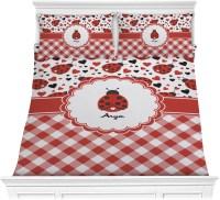 Ladybugs & Gingham Comforter Set - Full / Queen ...