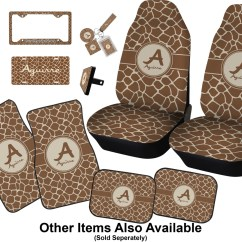 Giraffe Print Chair Cover Hire Basingstoke Car Seat Covers Set Of Two Personalized Accessories