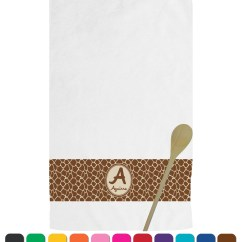 Personalized Kitchen Towels Used Island For Sale Giraffe Print Towel Youcustomizeit