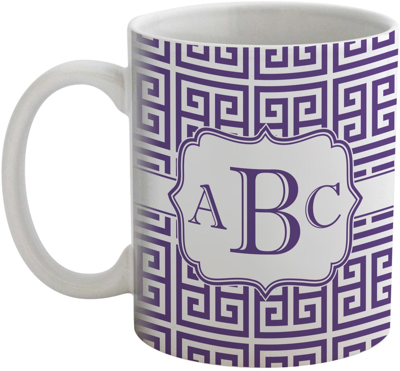 greek key coffee mug