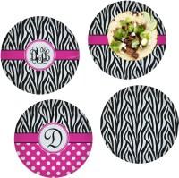 Zebra Print Set of 4 Lunch / Dinner Plates (Glass ...