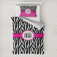 Zebra Print Duvet Cover Set - Toddler (Personalized ...