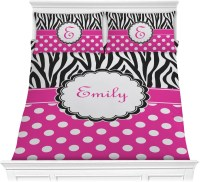 Zebra Print & Polka Dots Comforter Set - Full / Queen ...