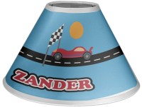 Race Car Coolie Lamp Shade (Personalized)