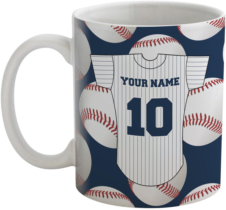 baseball jersey coffee mug