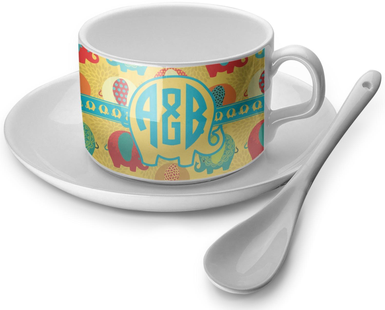 Cute Elephants Tea Cup (Personalized)