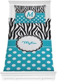 Dots & Zebra Comforter Set - Twin (Personalized ...