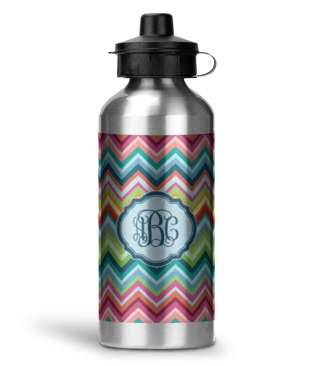 retro chevron monogram water