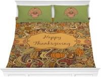 Thanksgiving Comforter Set - King (Personalized ...