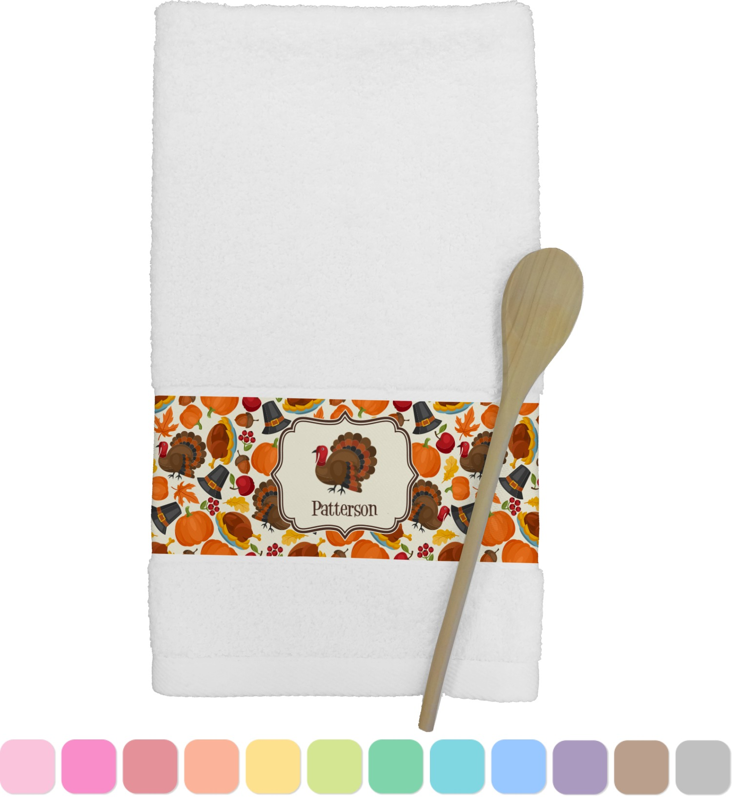 personalized kitchen towels fan traditional thanksgiving towel