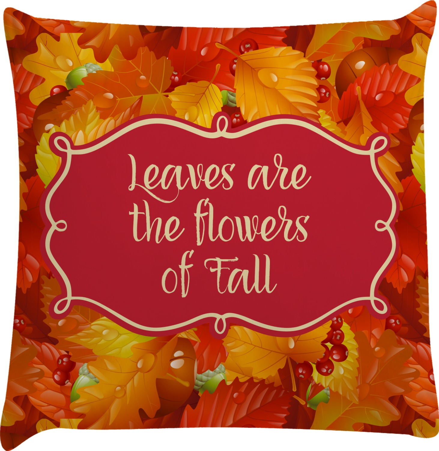 Fall Leaves Decorative Pillow Case  YouCustomizeIt