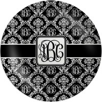 Monogrammed Damask Melamine Plate (Personalized ...