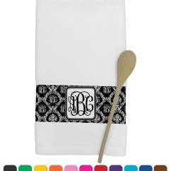 Personalized Kitchen Towels Heat Lamps Monogrammed Damask Towel