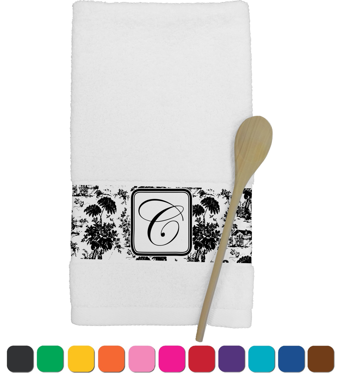 personalized kitchen towels microwave cabinet toile towel youcustomizeit