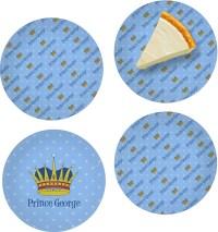 Prince Set of 4 Glass Appetizer / Dessert Plate 8 ...