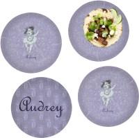 Ballerina Set of 4 Glass Lunch / Dinner Plate 10 ...