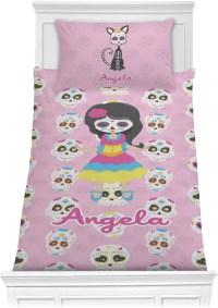 Kids Sugar Skulls Comforter Set - Twin (Personalized ...