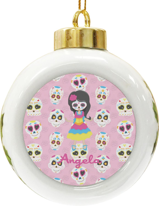 Sugar Skull Christmas Ornaments
