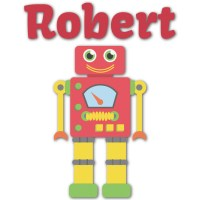 Robot Graphic Decal - Large (Personalized) - YouCustomizeIt