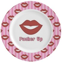 Lips (Pucker Up) Ceramic Dinner Plates (Set of 4 ...