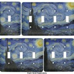 The Starry Night Van Gogh 1889 Light Switch Covers Youcustomizeit