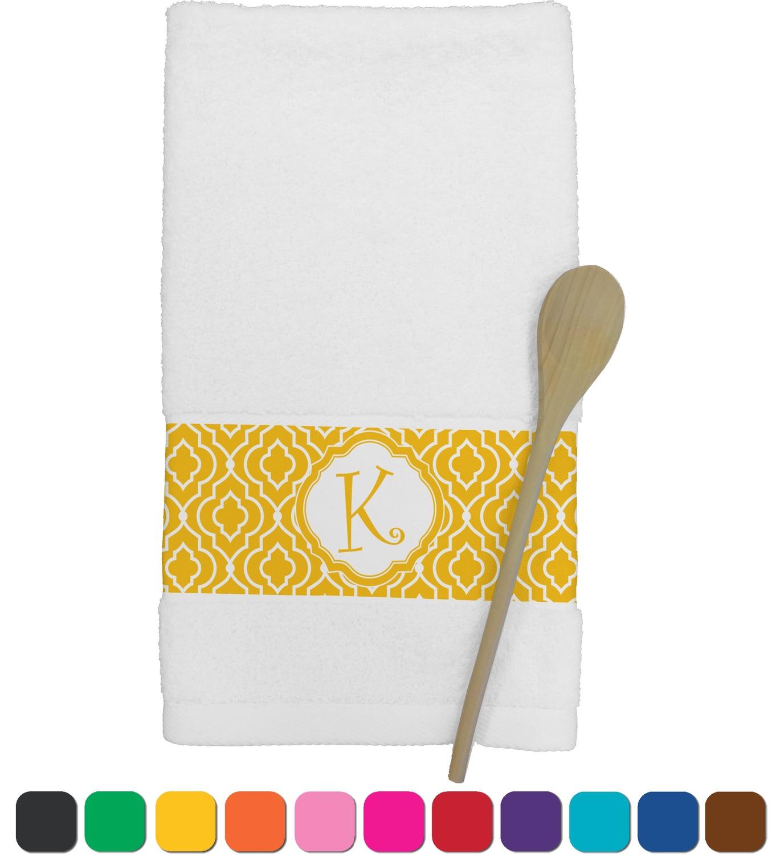 personalized kitchen towels corner nook trellis towel youcustomizeit