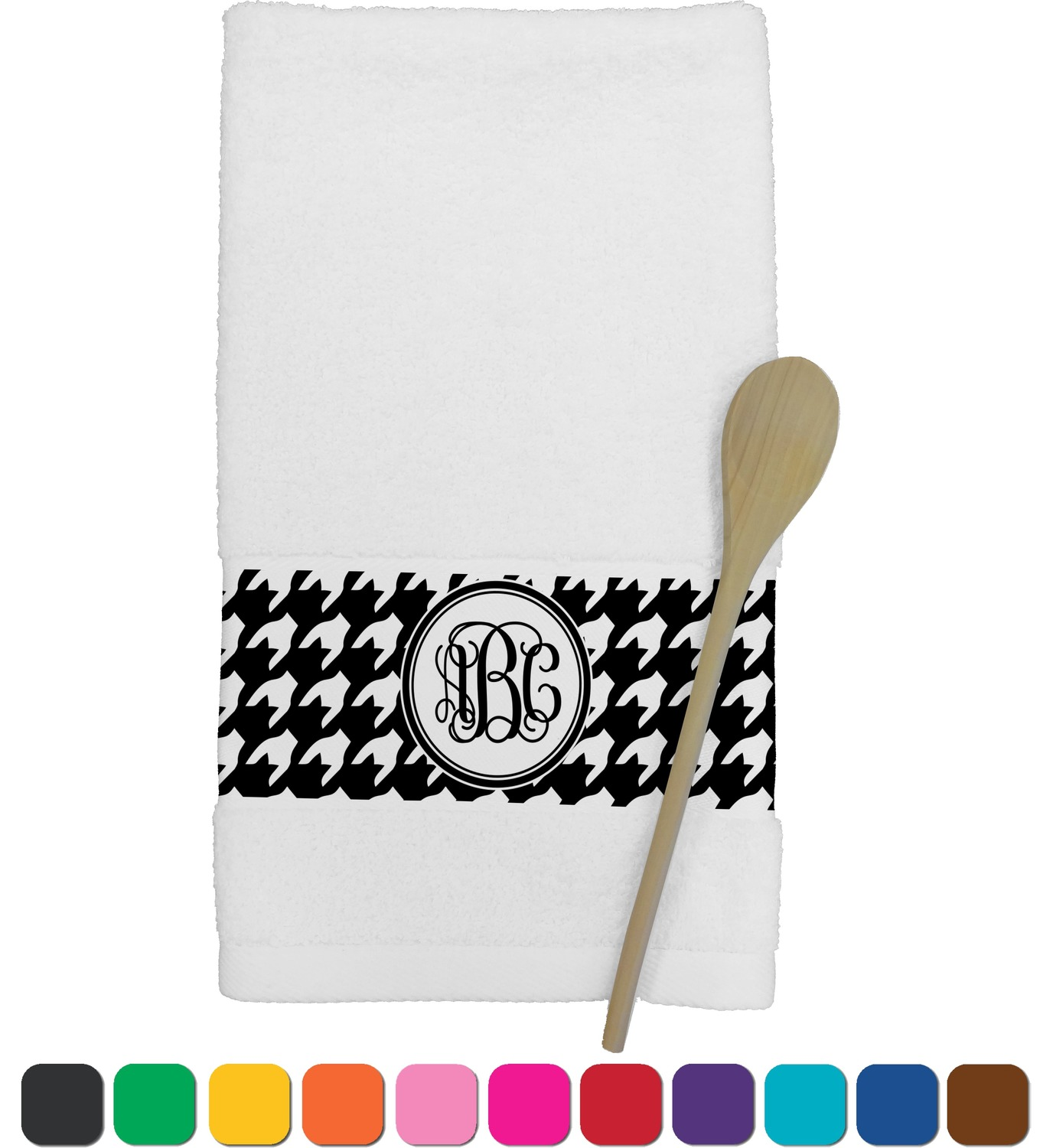 personalized kitchen towels rustic tables houndstooth towel youcustomizeit
