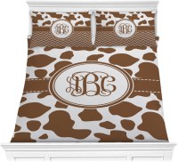 Cow Print Comforter Set - Full / Queen (Personalized ...