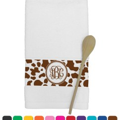 Personalized Kitchen Towels Victorinox Knife Set Cow Print Towel Youcustomizeit