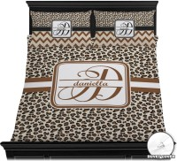 Leopard Print Duvet Cover Set - Full / Queen (Personalized ...