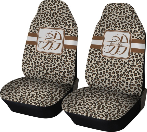 Leopard Print Car Seat Covers Set Of Two Personalized