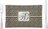 Leopard Print Rectangular Dinner Plate (Personalized ...
