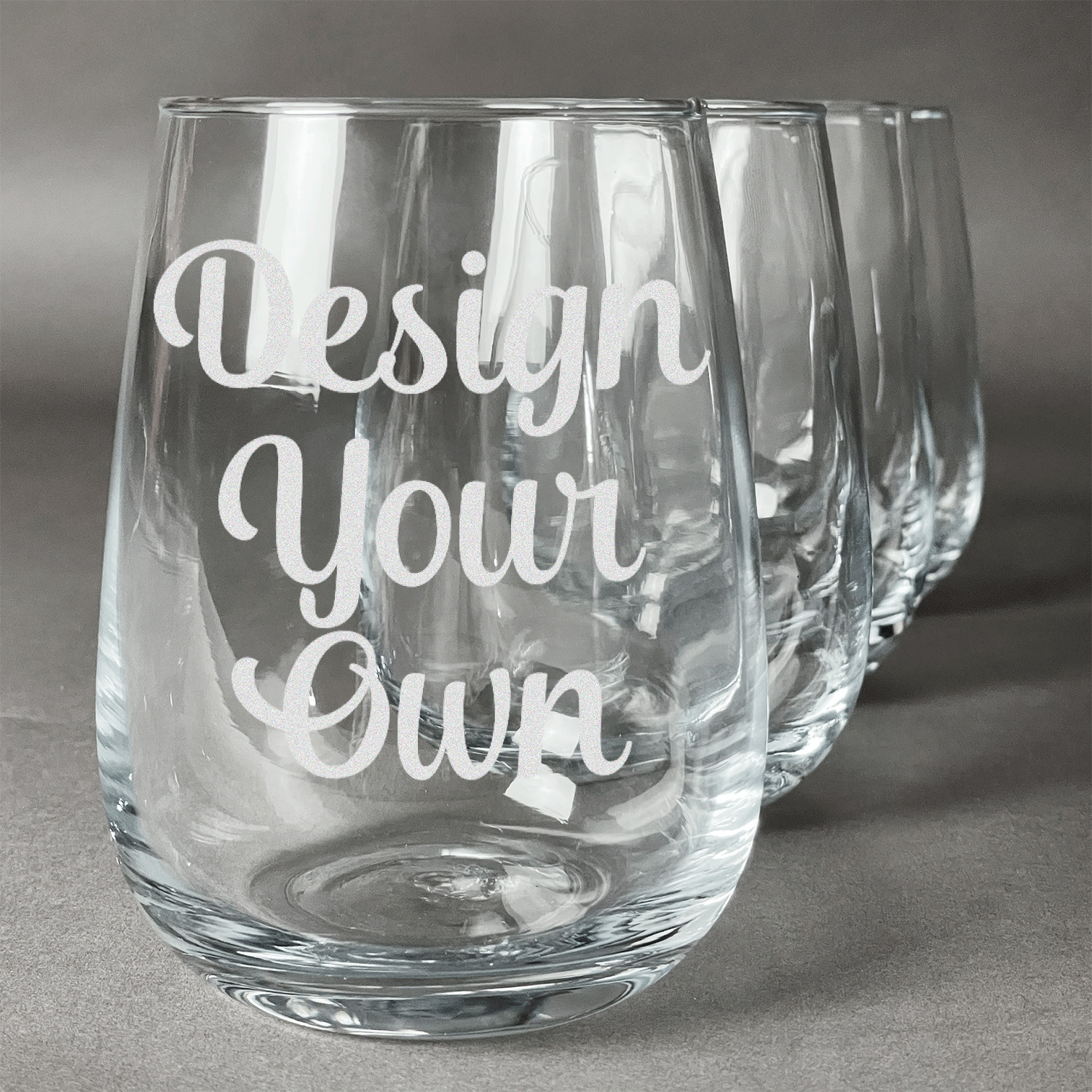 Design Your Own Wine Glasses (Stemless Set of 4