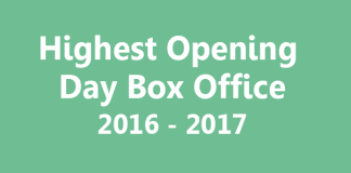 Highest Opening Day Box Office Hits and Flop