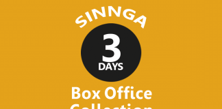 Sinnga 3rd Day Box Office Collection
