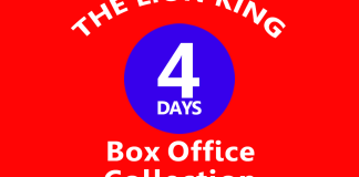The Lion King 4th Day Box Office Collection