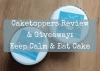 Caketoppers Review & Giveaway: Keep Calm & Eat Cake