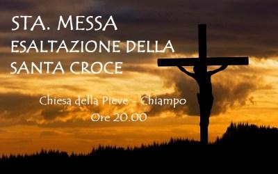 Stasera a Chiampo S.Messa – Esaltazione della Santa Croce