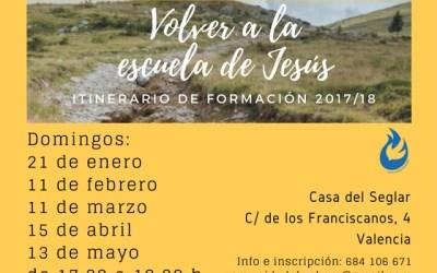 Volver a la Escuela de Jesús: cuarto día. ¡Reserva tu plaza!