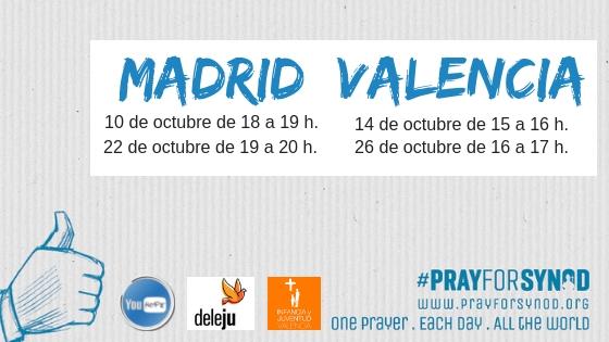 Súmate a la cadena de oración #Prayforsynod