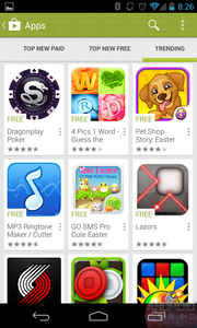Google Play 4.0 Android 3 Rows