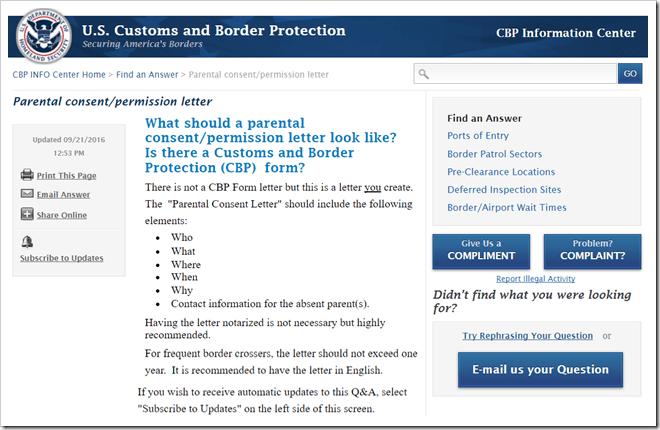 未成年出入境美国的授权委托书内容格式
