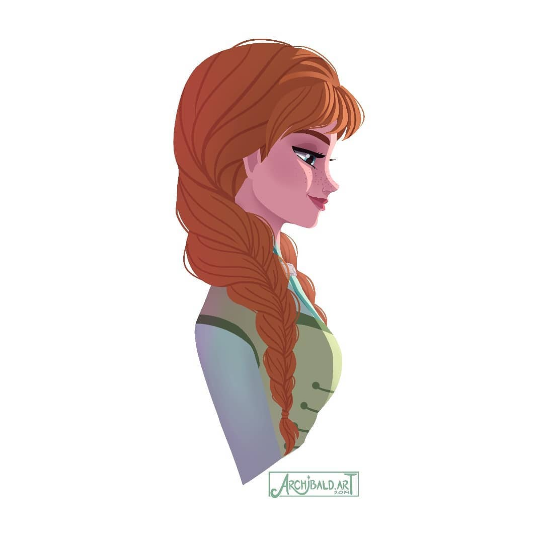 Beautiful Princess Anna Portraits In Profile From Frozen Frozen Fever Olaf S Frozen Adventure And Frozen 2 Youloveit Com