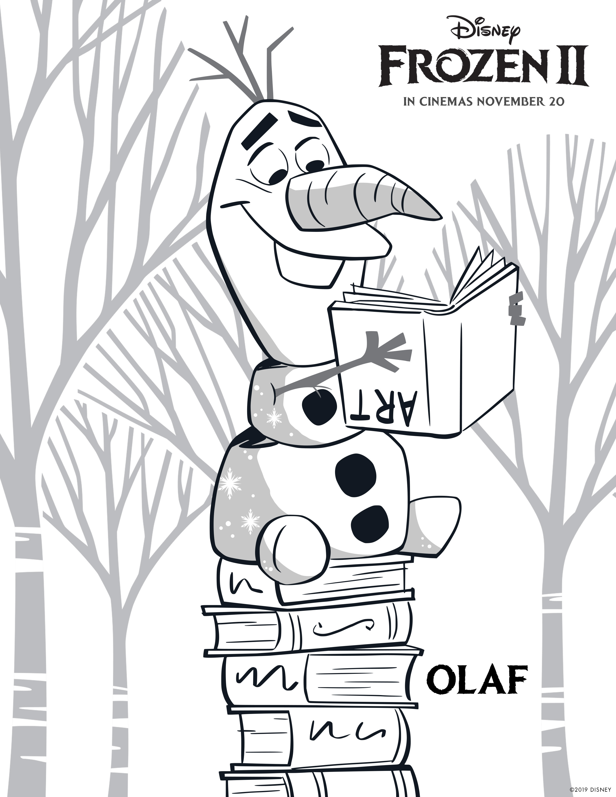 Frozen 2 Free Coloring Pages With Elsa Anna Olaf